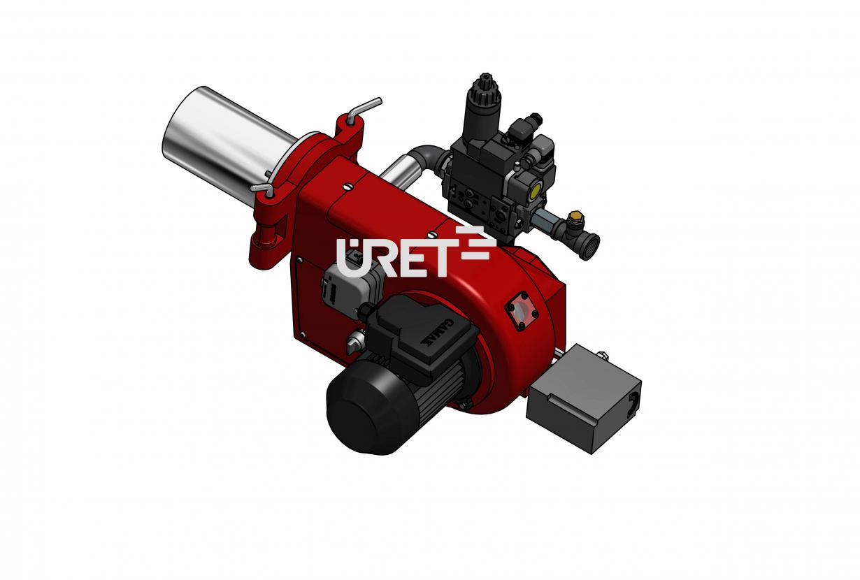 ÜRG2Z ÜRET İki Kademeli Gaz Brülör (80-225 kW)