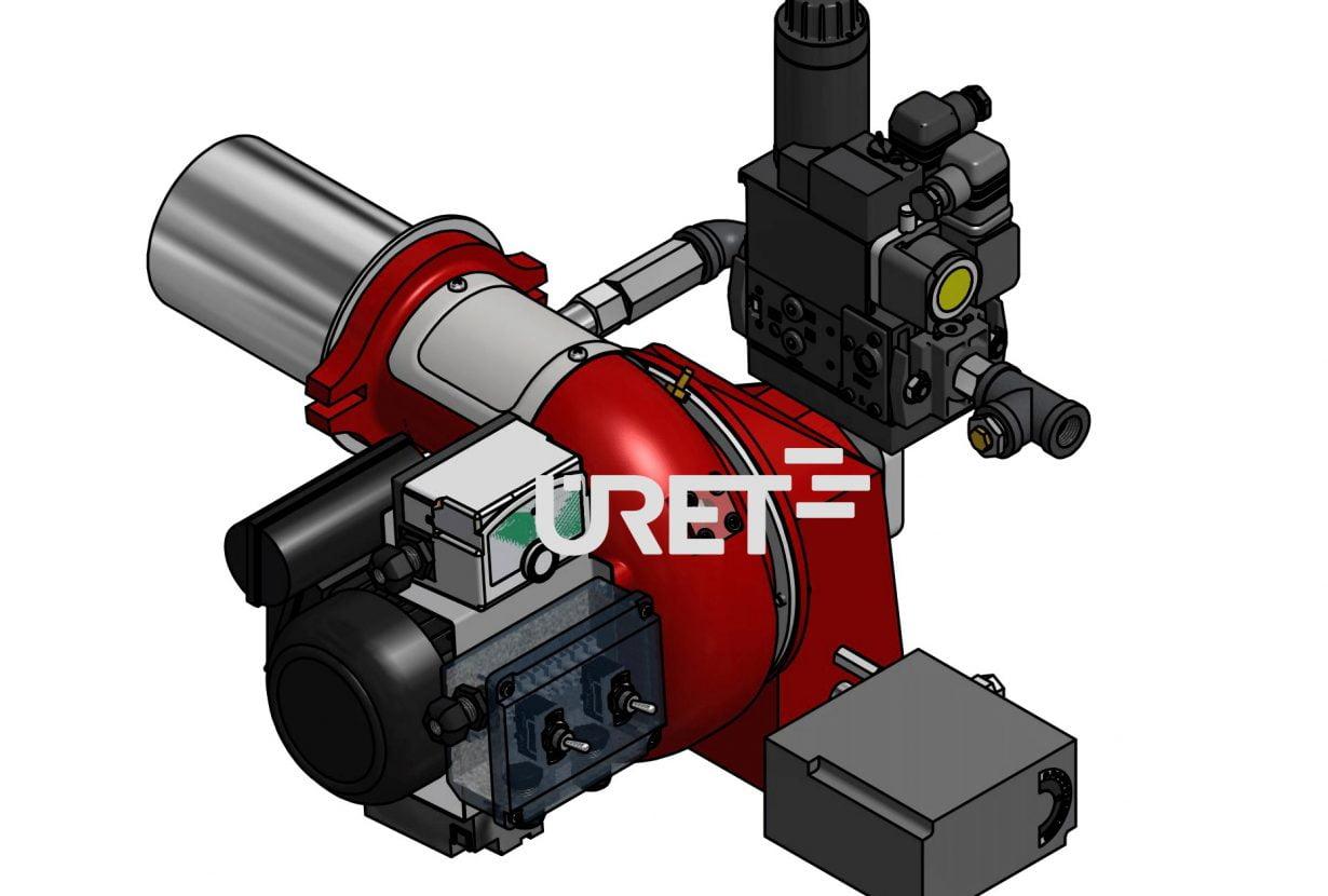 ÜRG1Z ÜRET İki Kademeli Gaz Brülörü (55-100 kW)