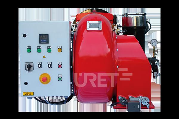 ÜM 8 VTTU ÜRET Üç Kademeli Fuel Oil Sıvı Yakıt Brülörü (70-260 kg/h)