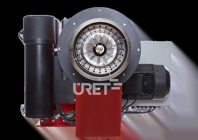 ÜM 12 VTTU ÜRET Üç Kademeli Fuel Oil Sıvı Yakıt Brülörü (210-525 kg/h)